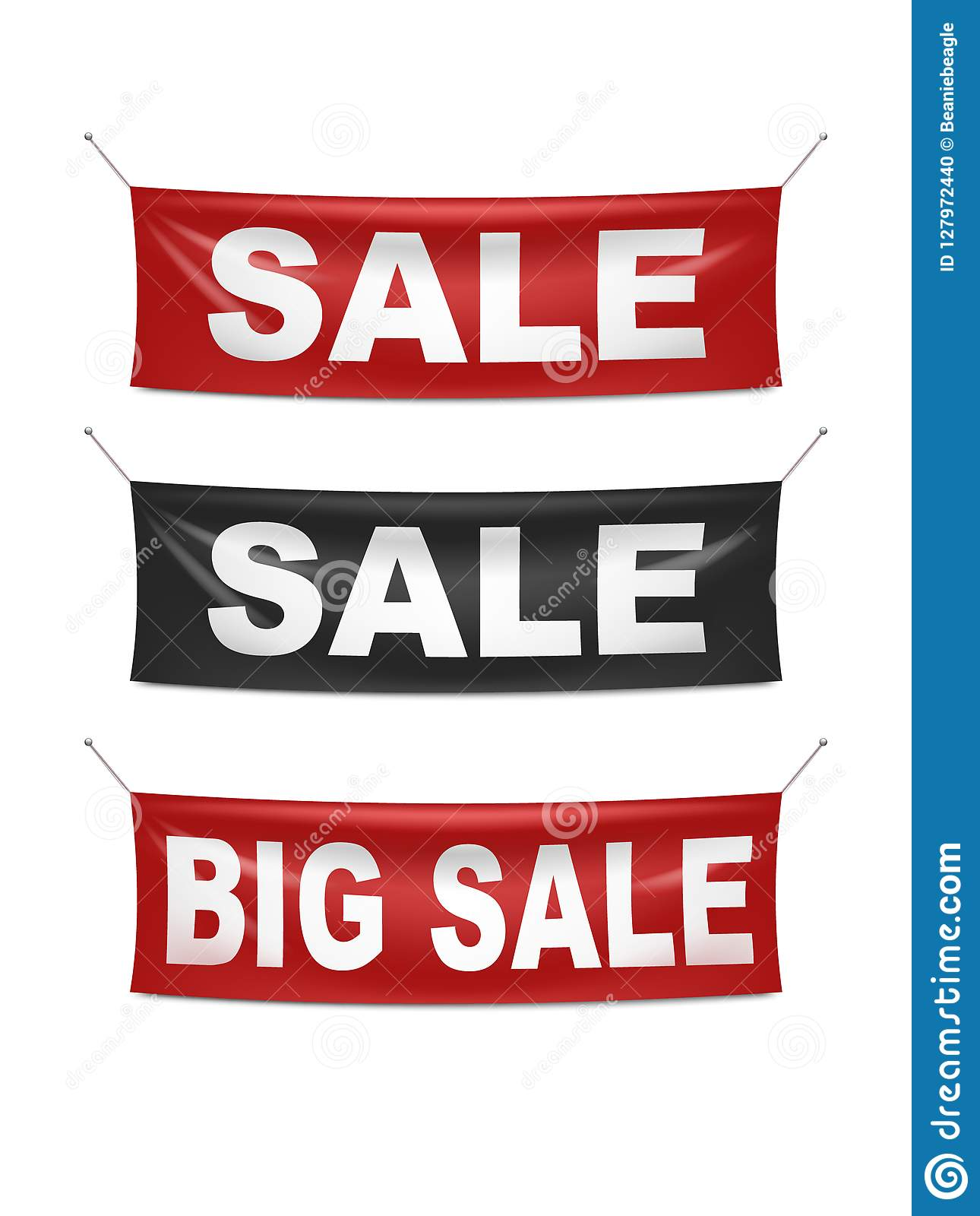 Vinyl Sale Banners In Red And Black Stock Vector