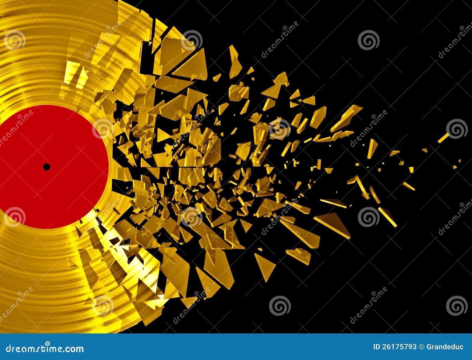 Vinyl Shatter Gold Stock Photos Image 26175793