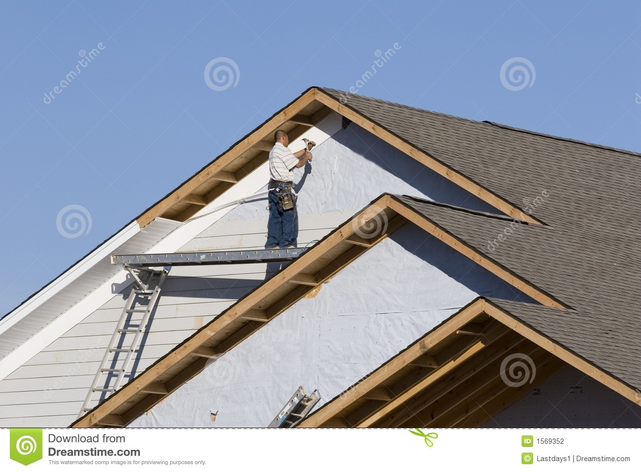Vinyl Siding Installation 2 Stock Photo Image Of Skies