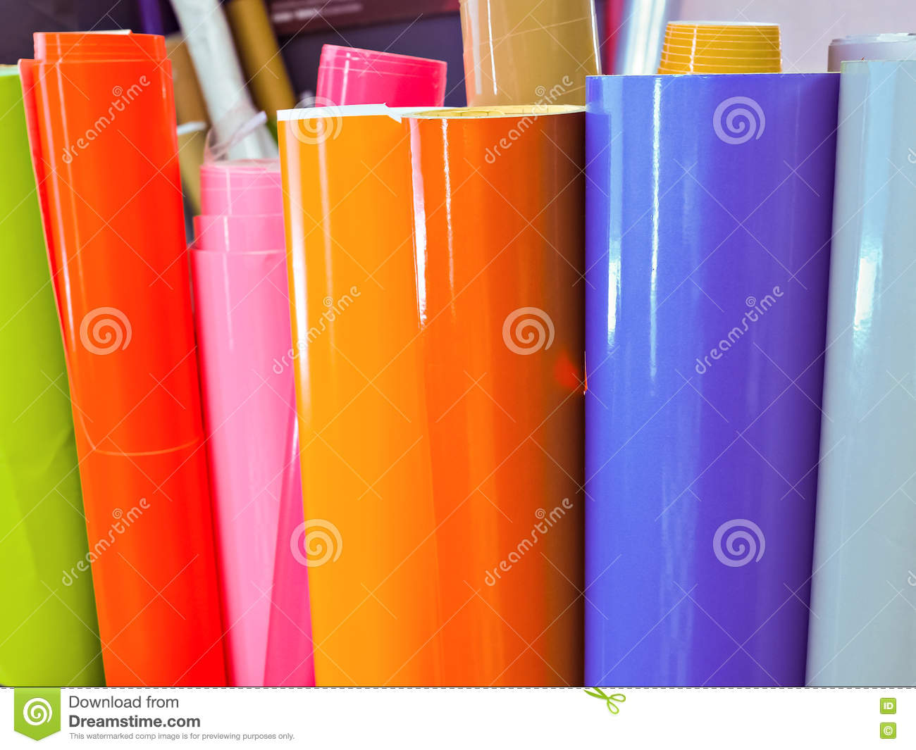Vinyl Sticker Paper Roll stock photo  Image of texture - 70955758