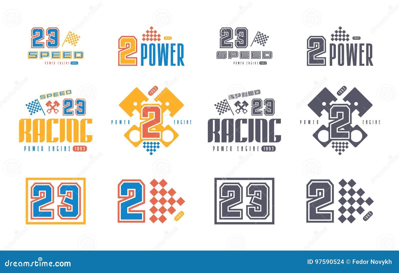 Vinyl Stickers For Race Car Stock Vector