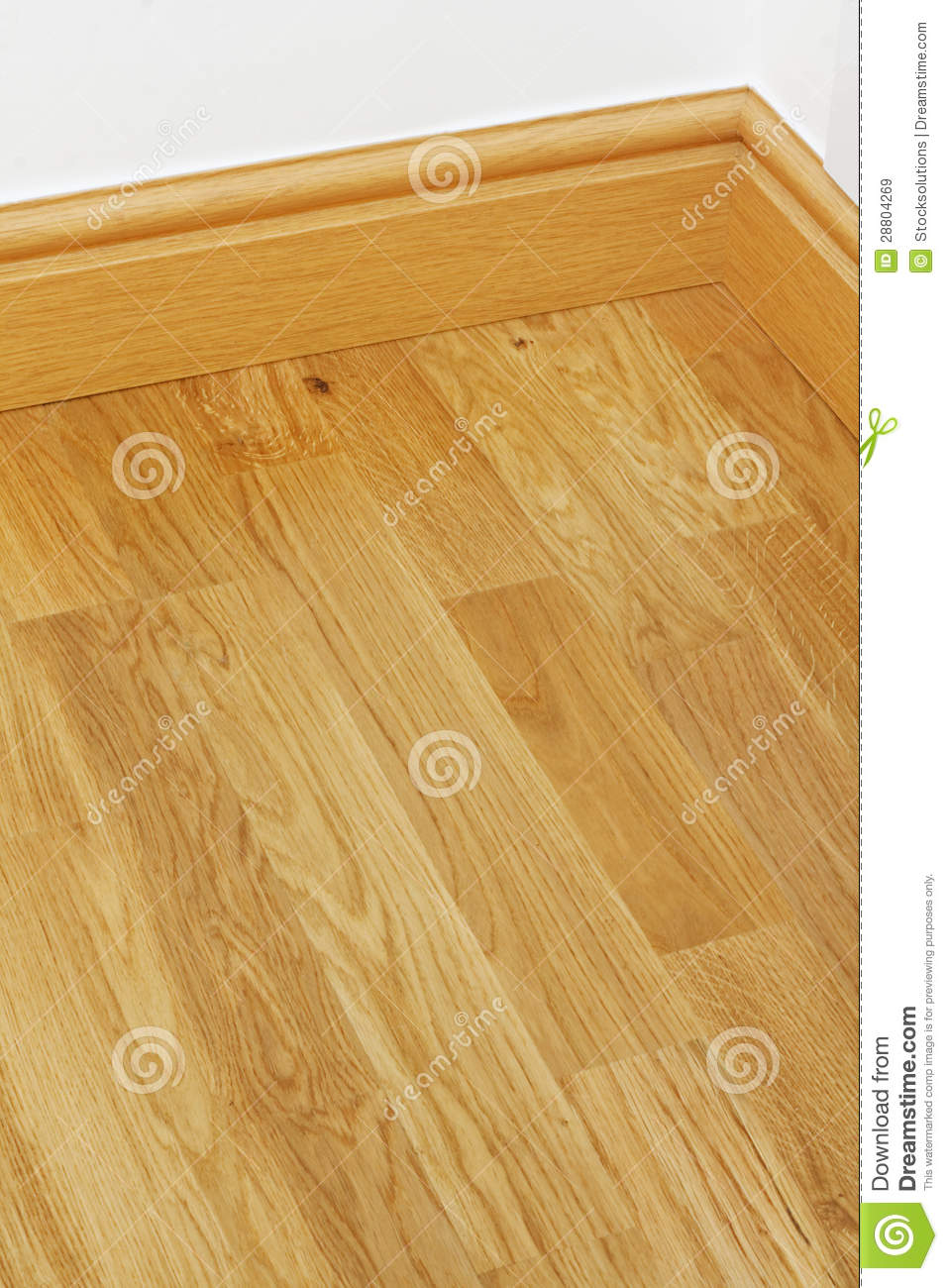 Vinyl Wooden Flooring Mdf Skirting Boards Stock Image