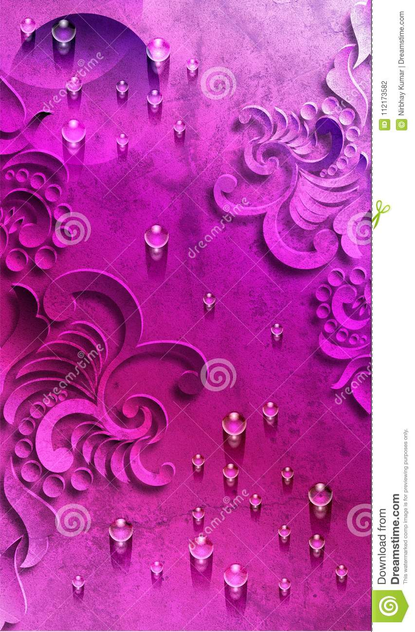 Violet Abstract background with water drop