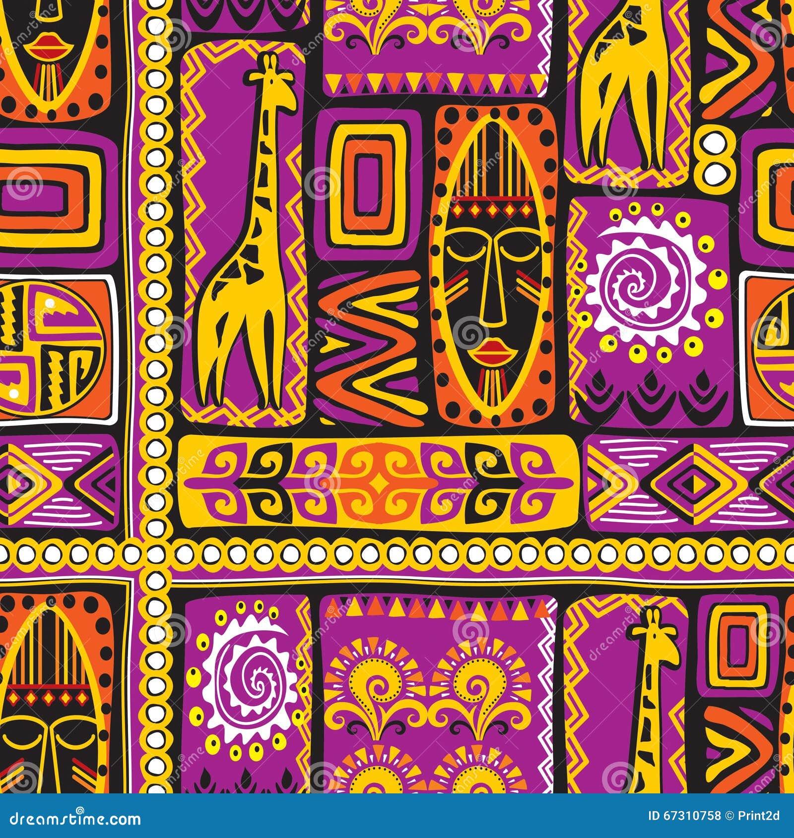 Violet afrikan pattern