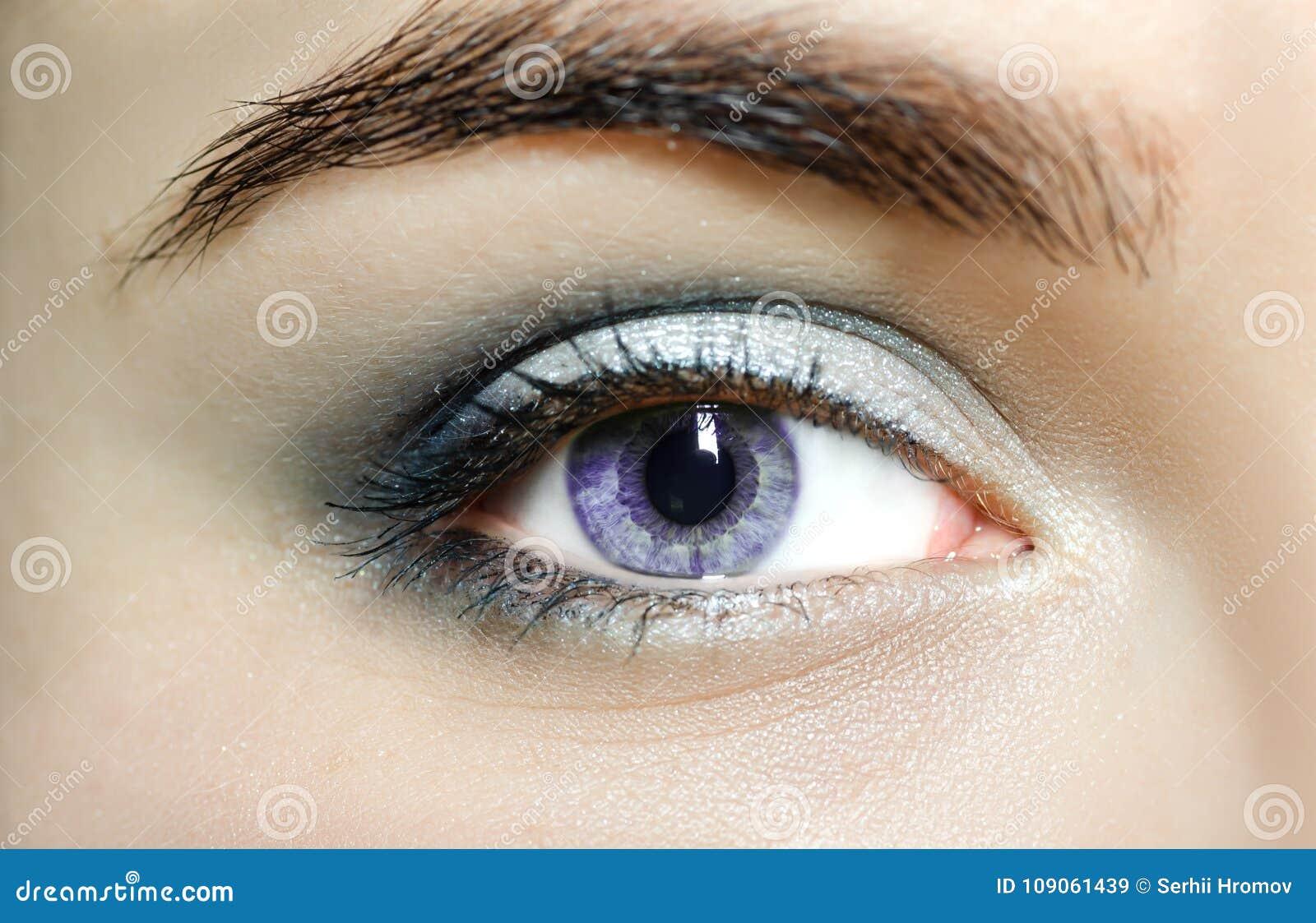 Violet Eyes Mutation Eyes, Close Up. The Human Eye Of A ...  Violet Eyes Mutation