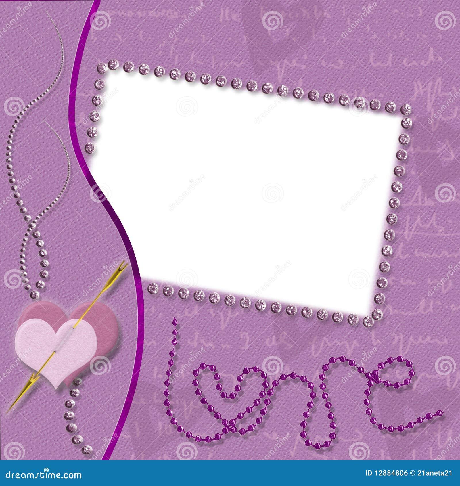 Royalty Free Stock Image: Violet frame love