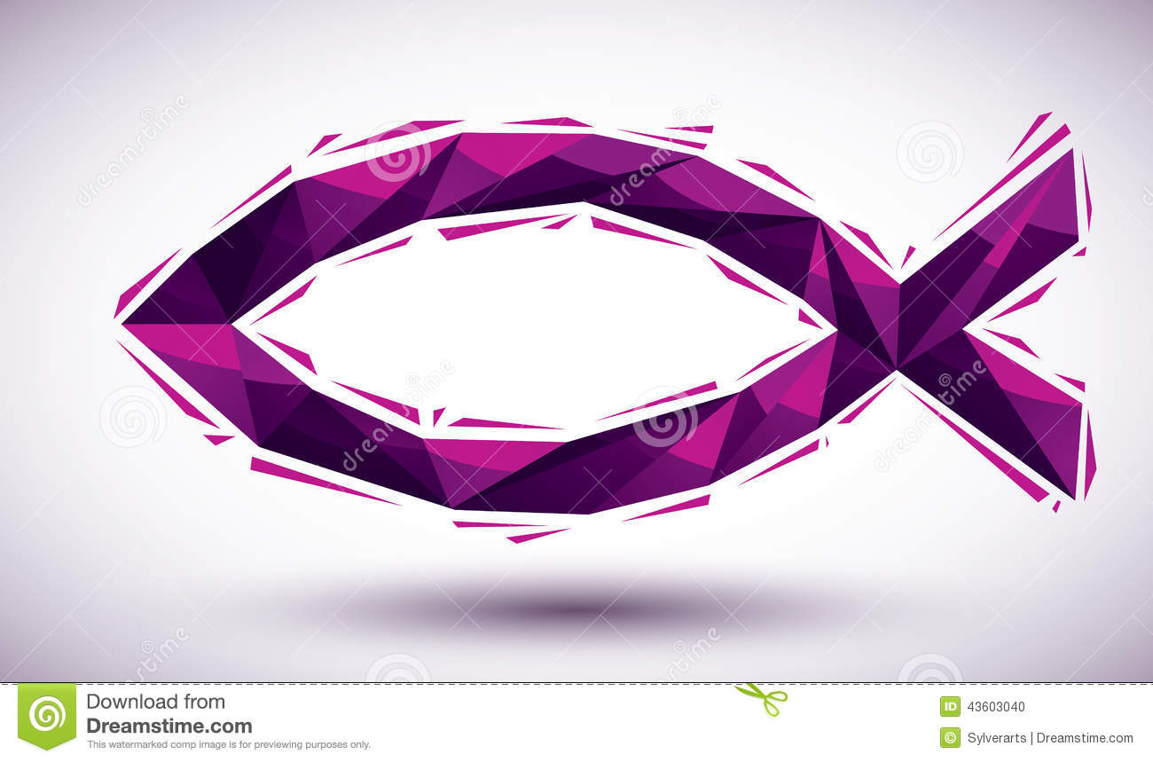 Violet Jesus geometric icon made in 3d modern style, best for us