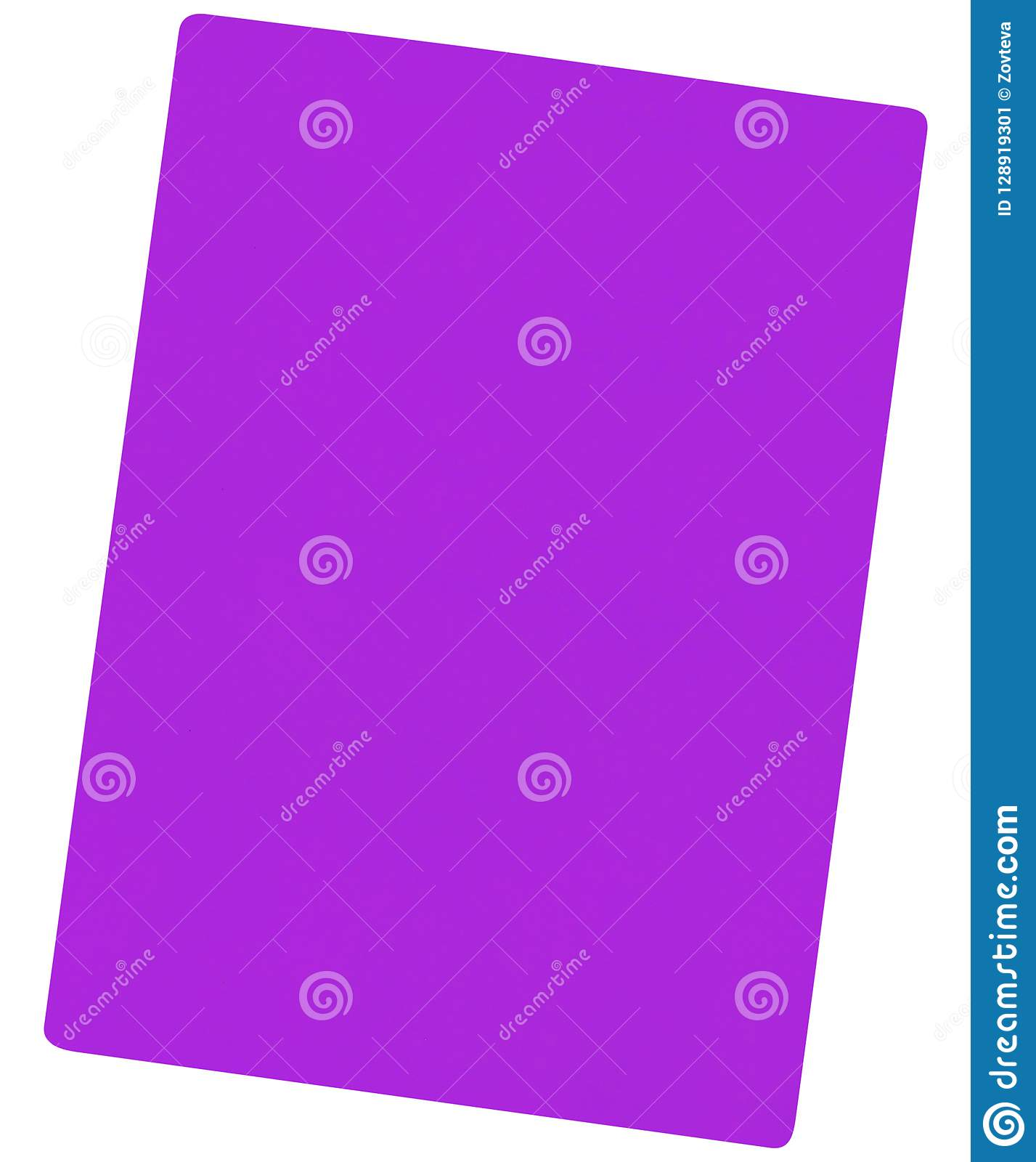 Violet paper isolated on white