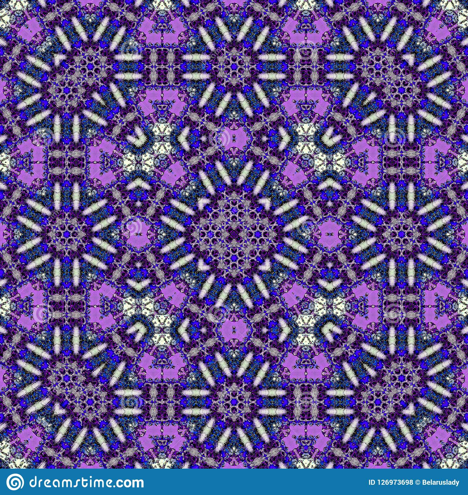 Violet Geometric Pattern For Batik, Carpet And Rug Print