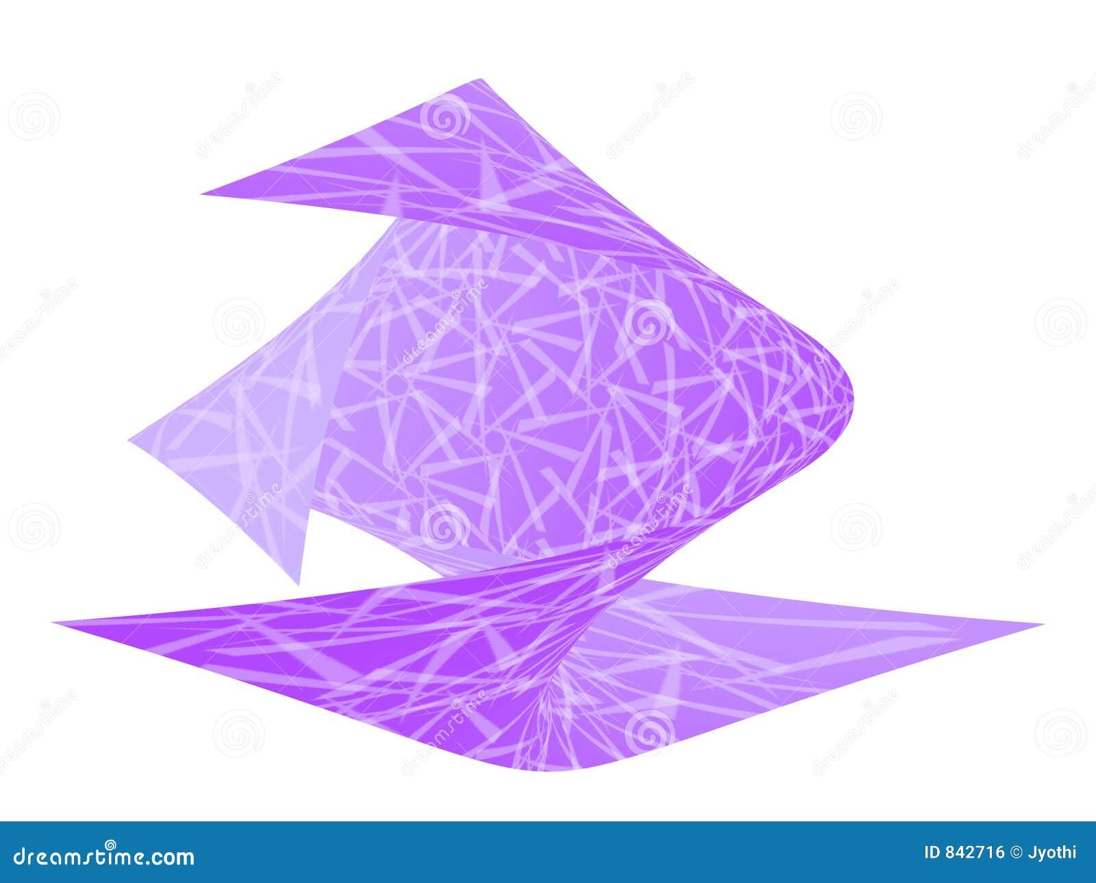 Violet twisted design