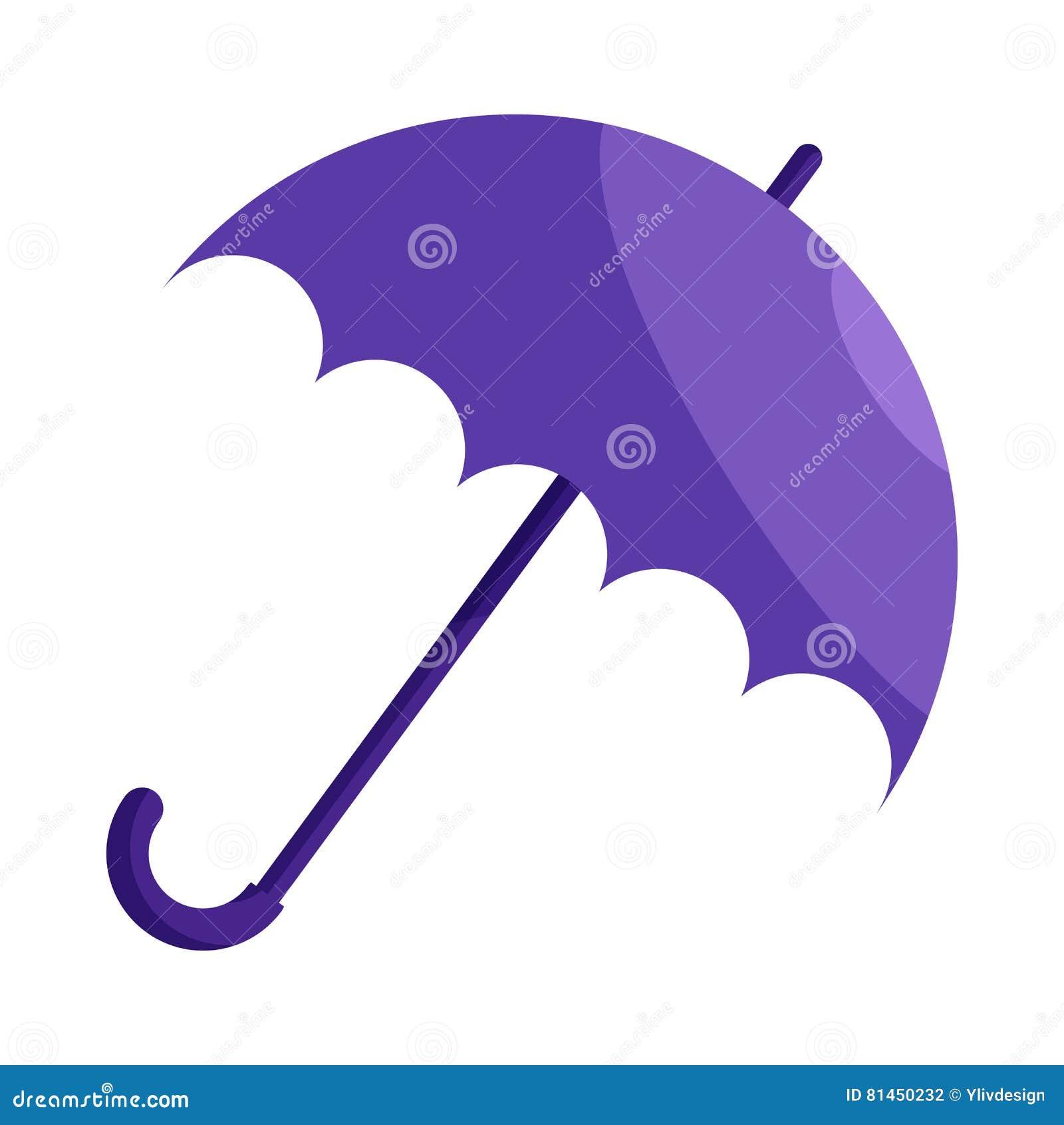 violet umbrella icon cartoon style stock vector image 81450232