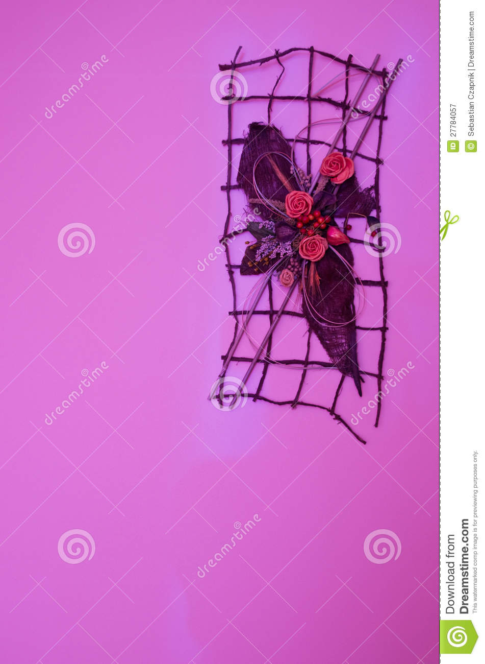 Wall Design Violet : Violet wall decoration royalty free stock photography