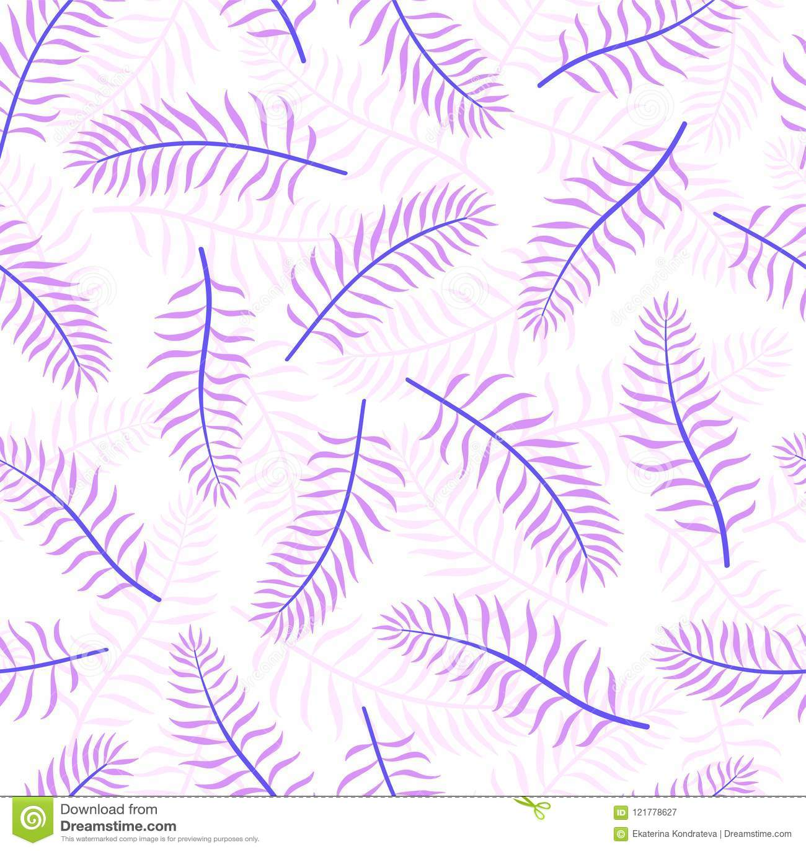 Violette kokosnoten tropische palmbladen