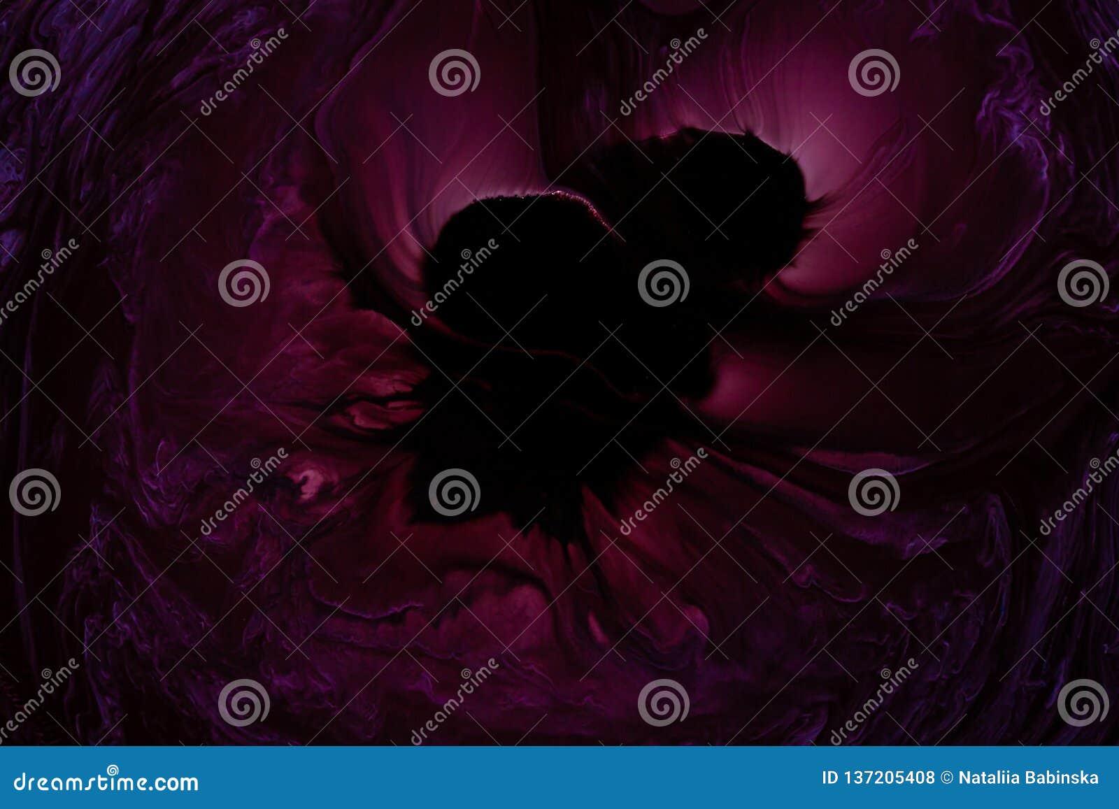 Violette Rose Sous Marine Inconnue Legere Noire De L Espace D Objet