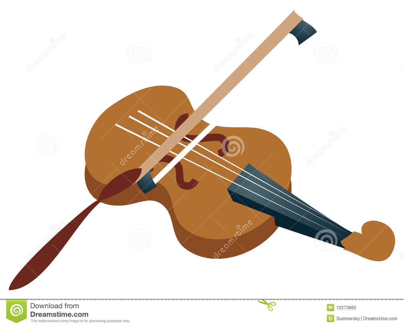 Cartoon Violin Images: Violin Stock Illustration. Image Of Opera, Instrument
