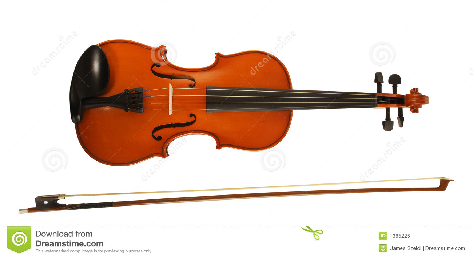 Violin & Bow Royalty Free Stock Image - Image: 1385226