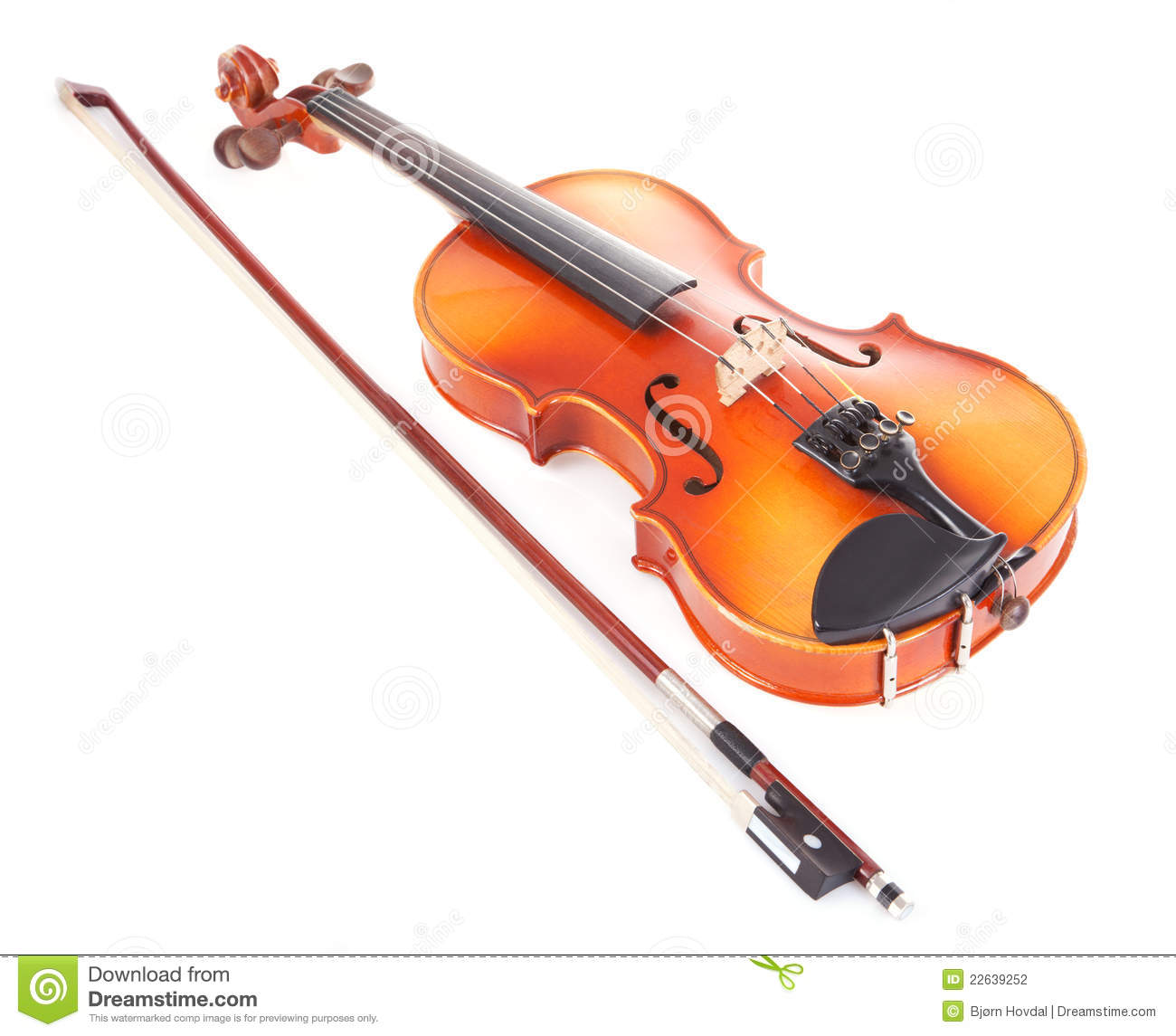 Violin And Bow Stock Photography - Image: 22639252