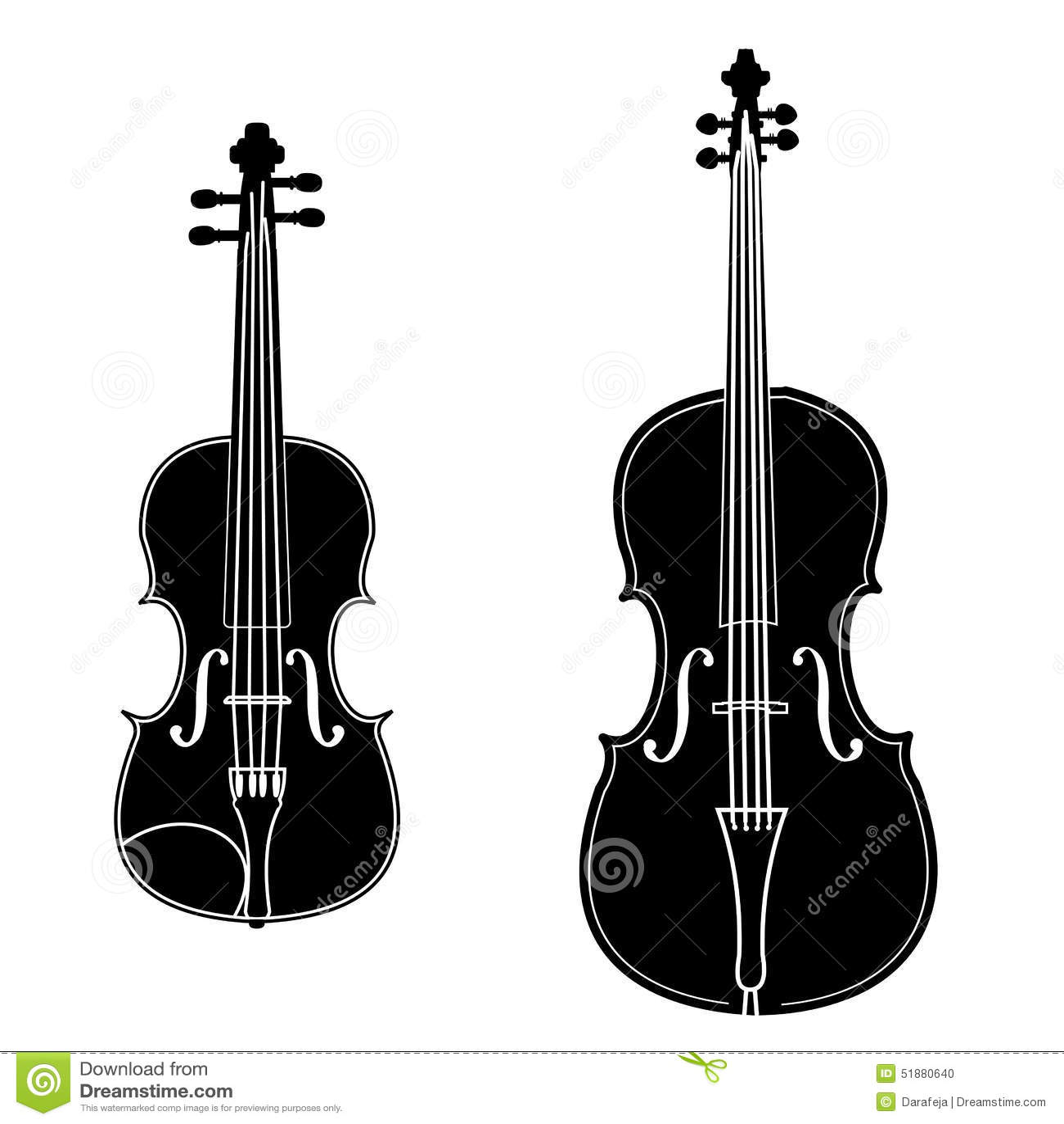 Violin And Cello Stock Vector Image 51880640