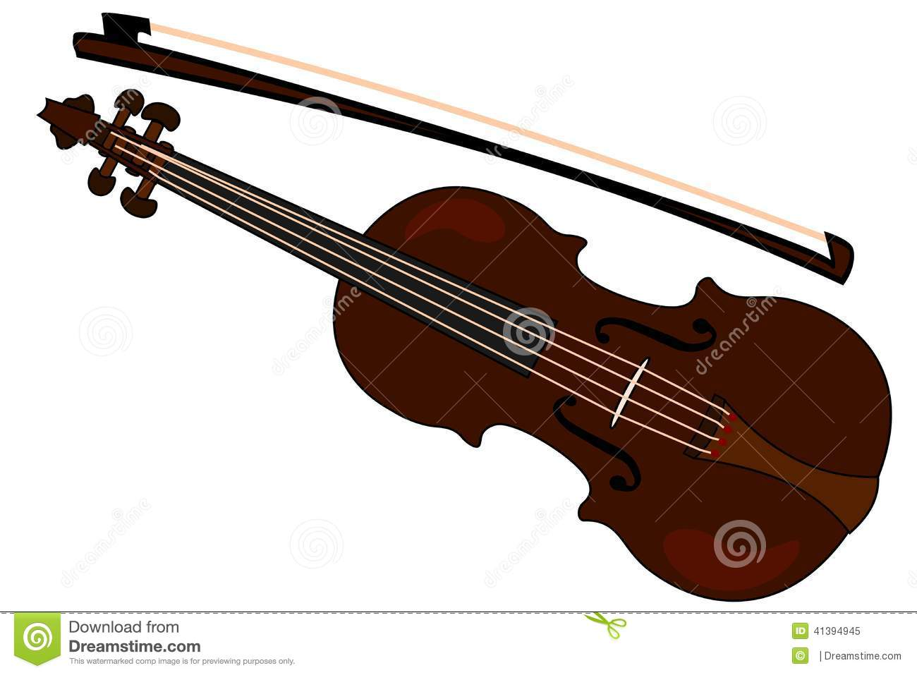 Violin Bow Clipart Violin with a bow  Clipart