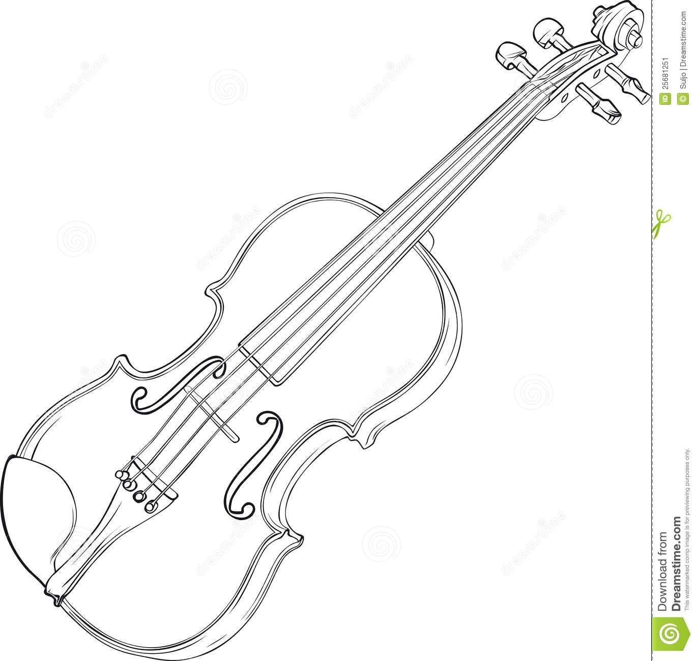 Line Drawing Violin : Violin drawing stock image