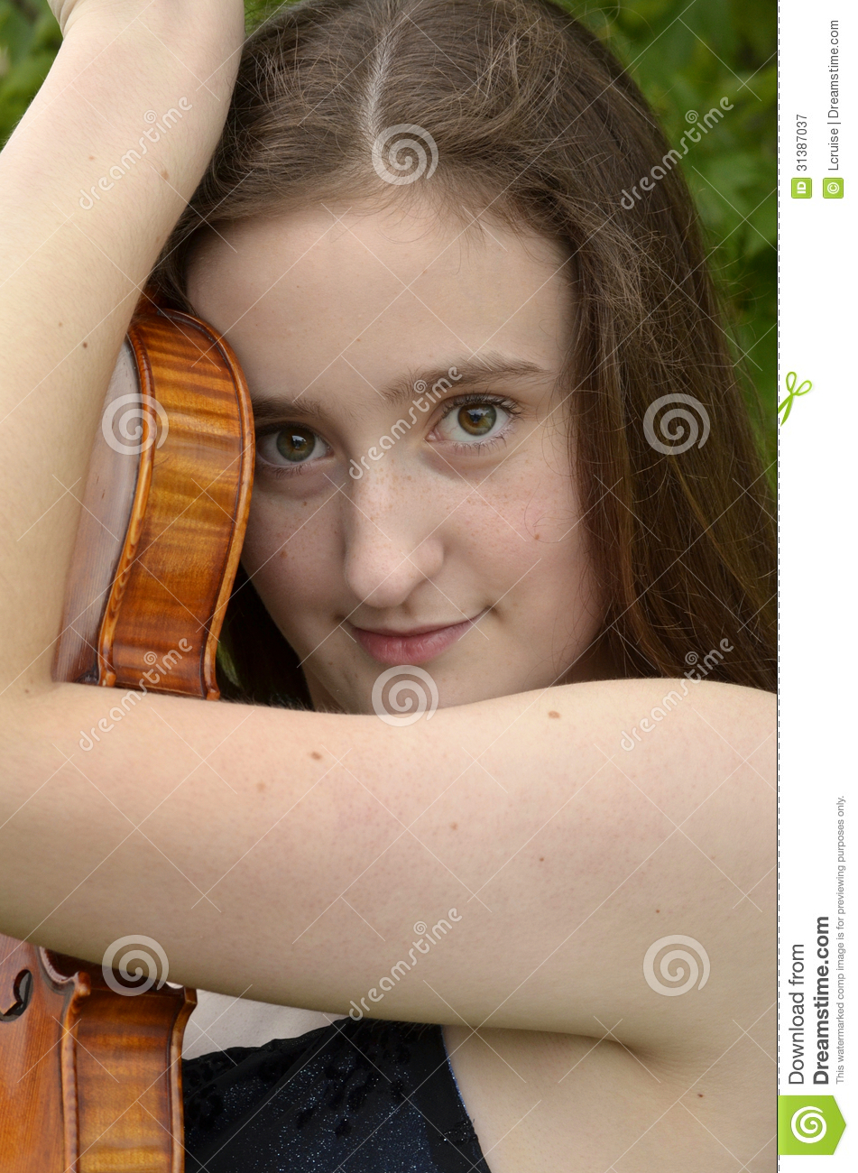 Violin Embrace Royalty Free Stock Photography Image