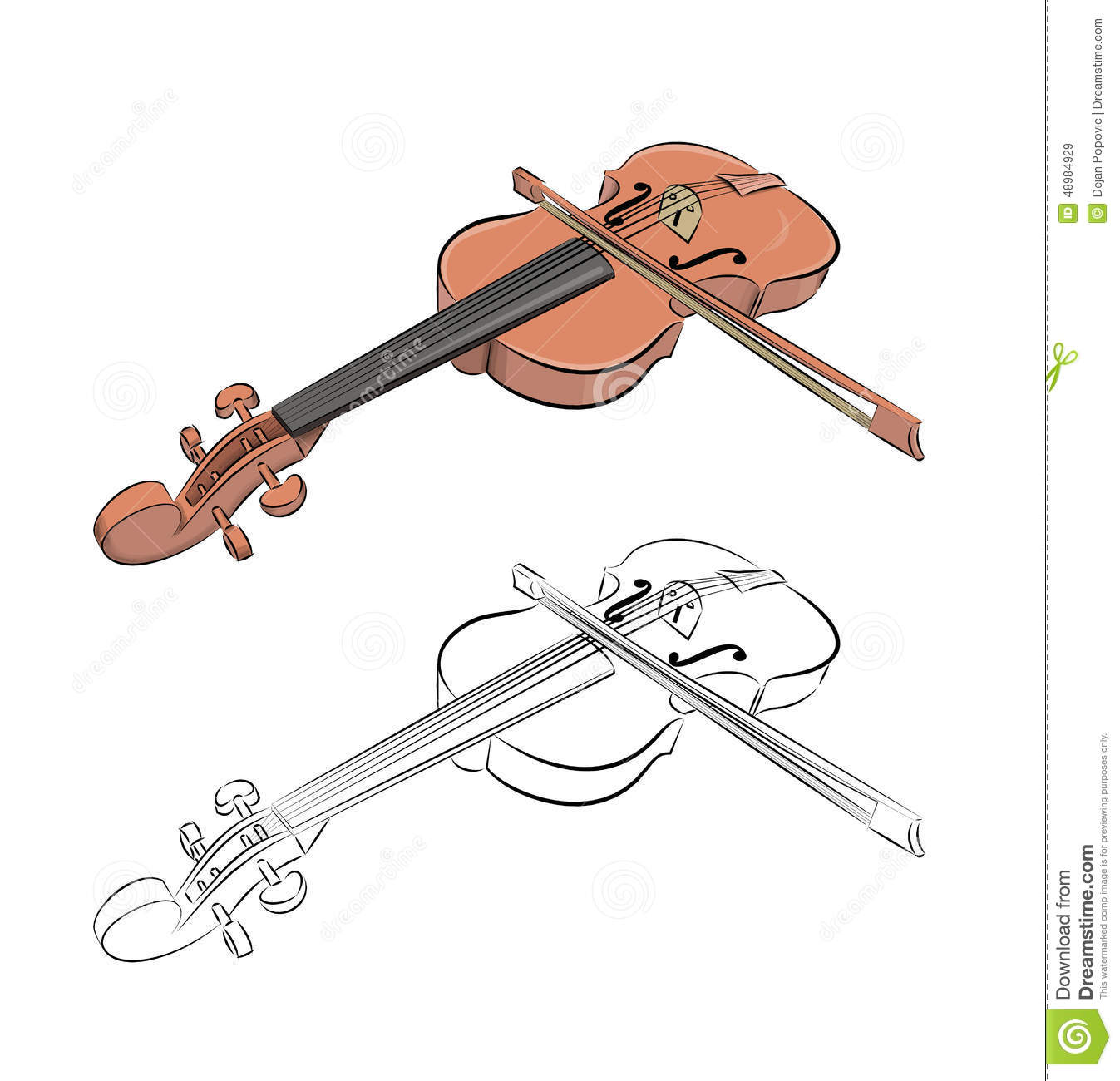 Line Drawing Violin : Moved permanently