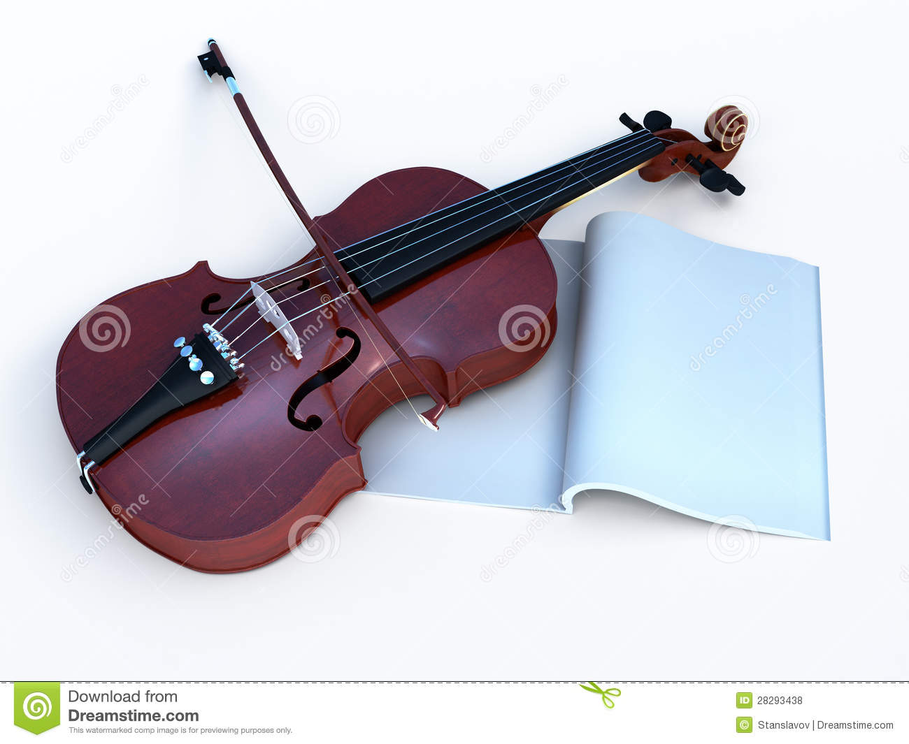 violin with music book for greetig royalty free stock photos image 28293438. Black Bedroom Furniture Sets. Home Design Ideas