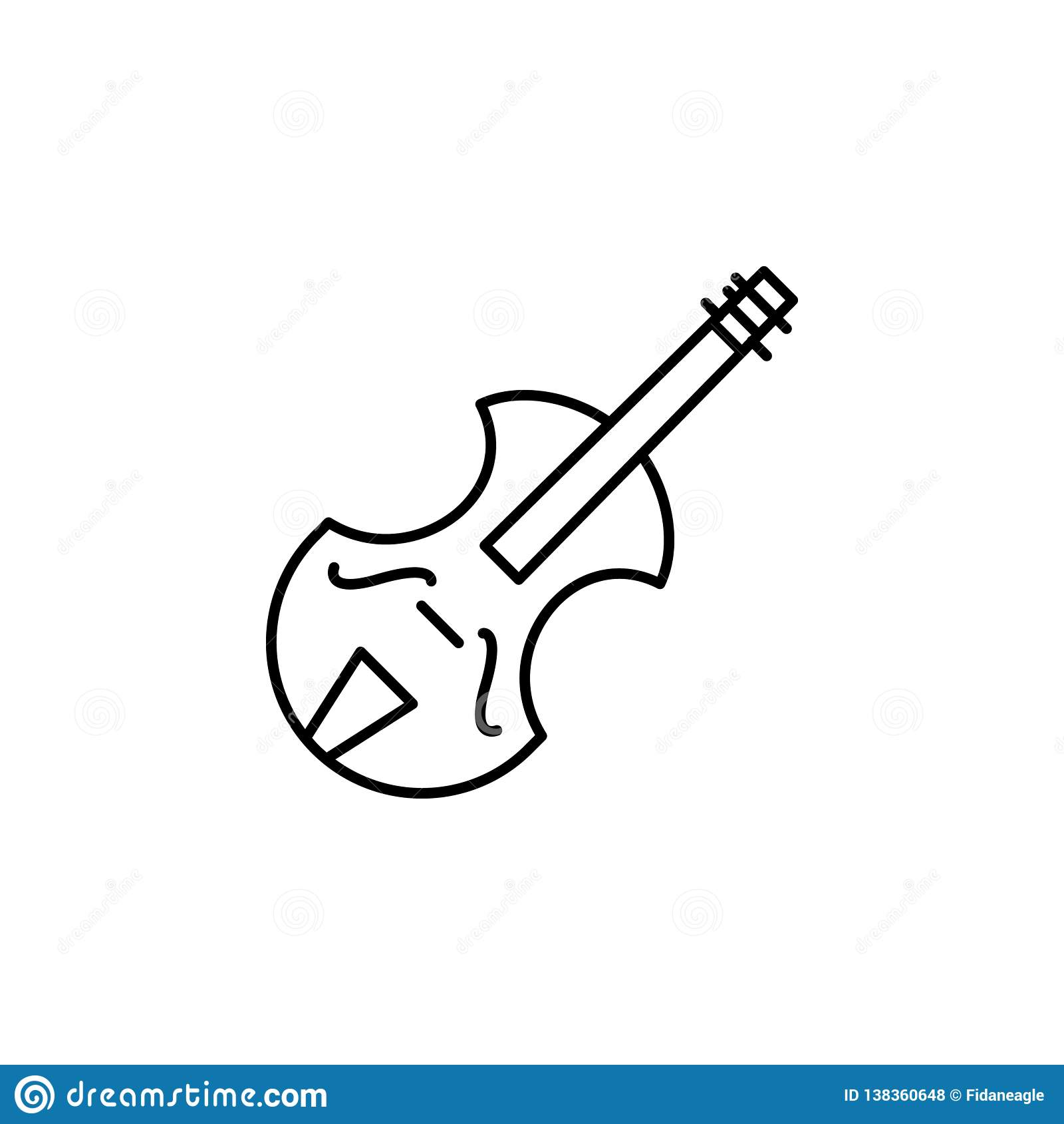 Violin, Music Instrument Icon  Element Of Education