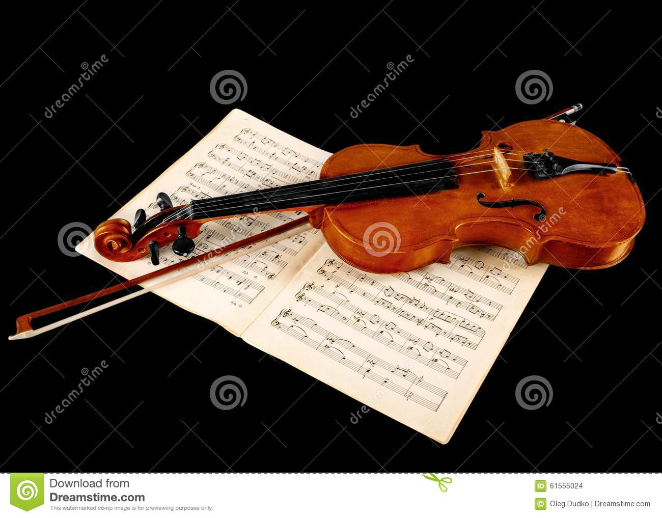 Violin stock photo  Image of mozart, sheet, paper, violin