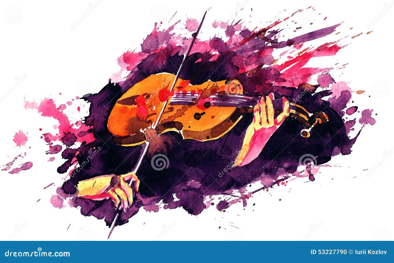 Violin stock illustration  Illustration of classical - 53227790