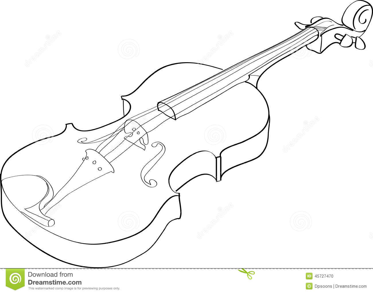 Line Drawing Violin : Violin stock vector illustration of outline picture