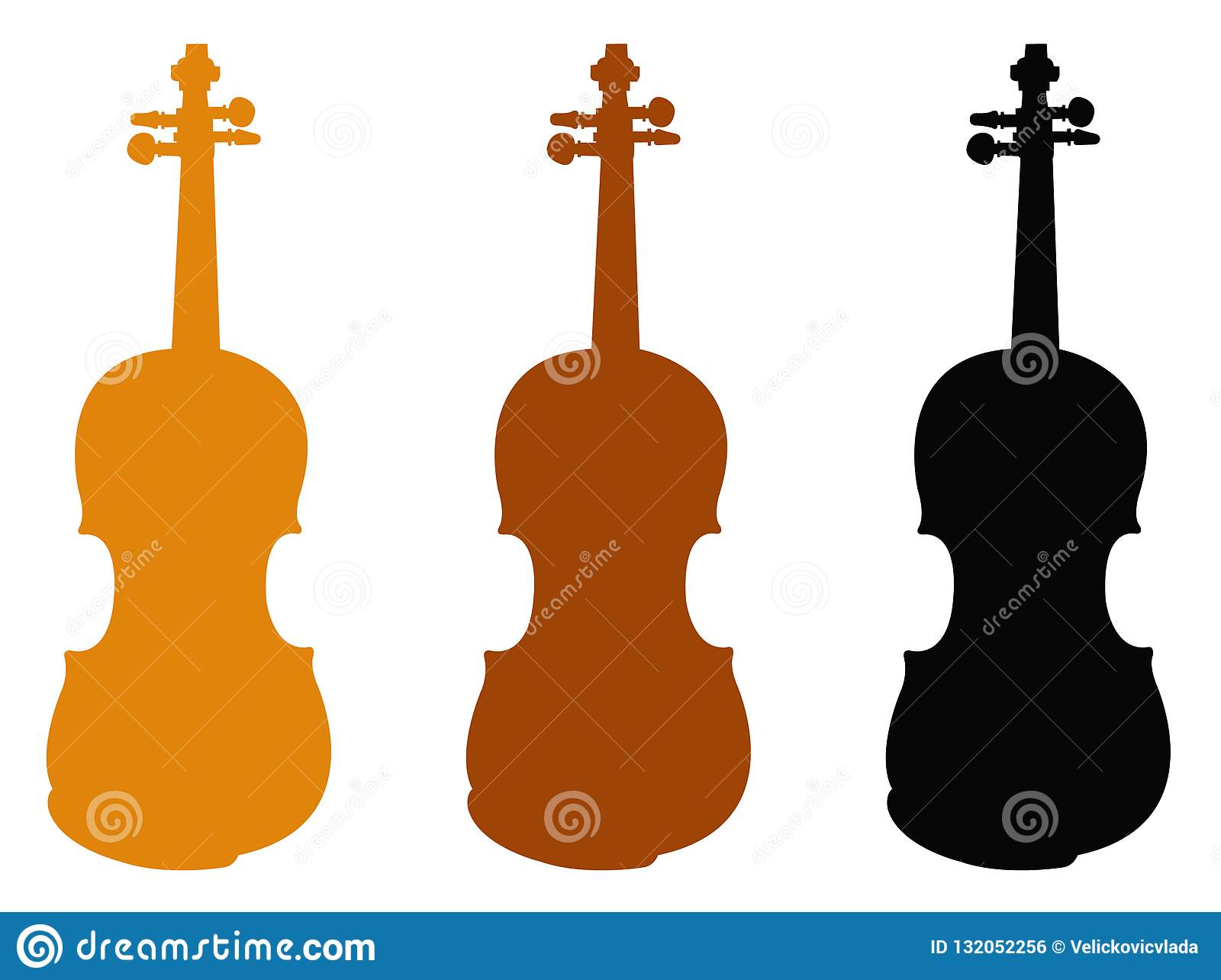 Violin silhouette - fiddle, is a wooden string instrument in the violin family