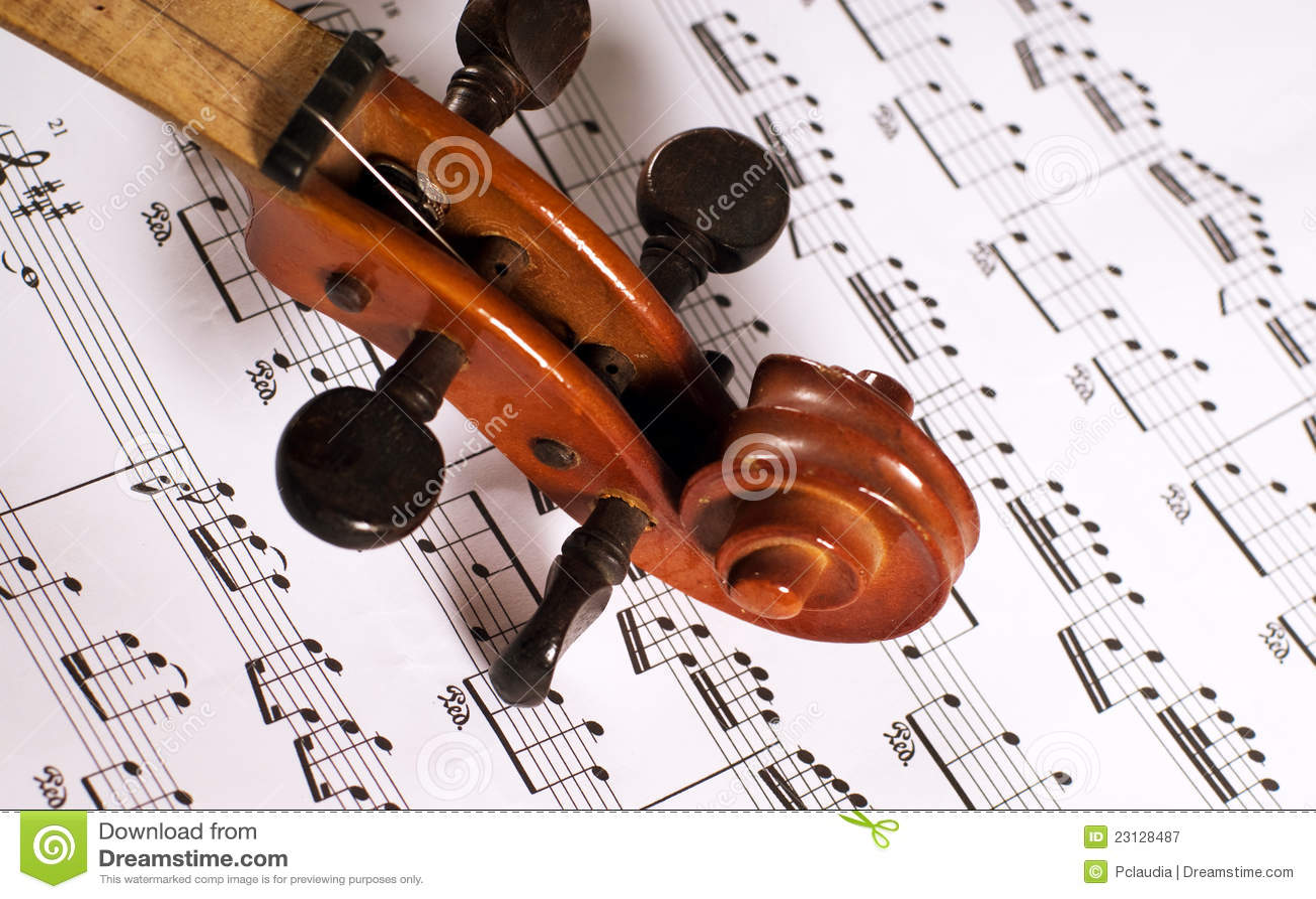 Violin And Tab Royalty Free Stock Photography - Image: 23128487