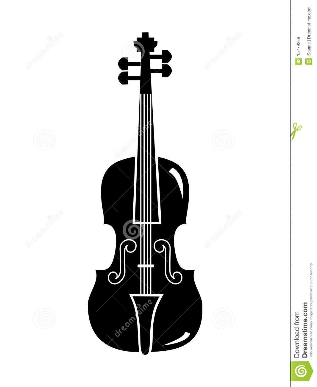 Violin Vector Royalty Free Stock Images - Image: 15779269