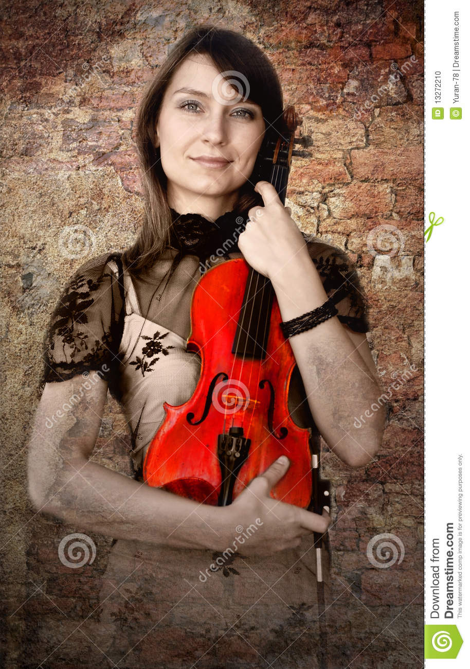 Violinist With Violin Stock Photo Image 13272210
