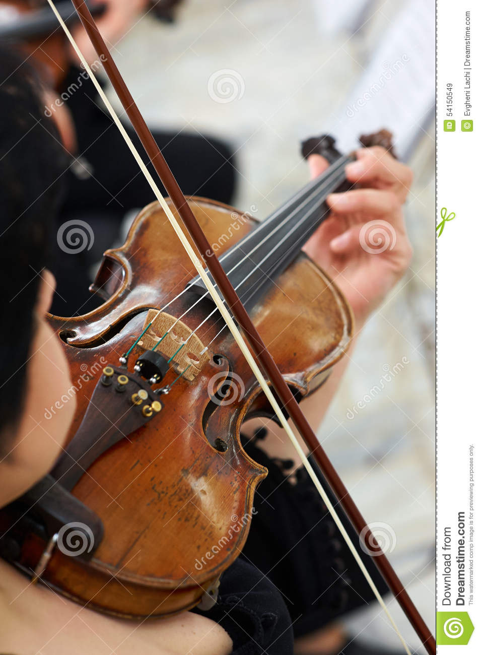 Violinista Playing Classical Violin das mulheres