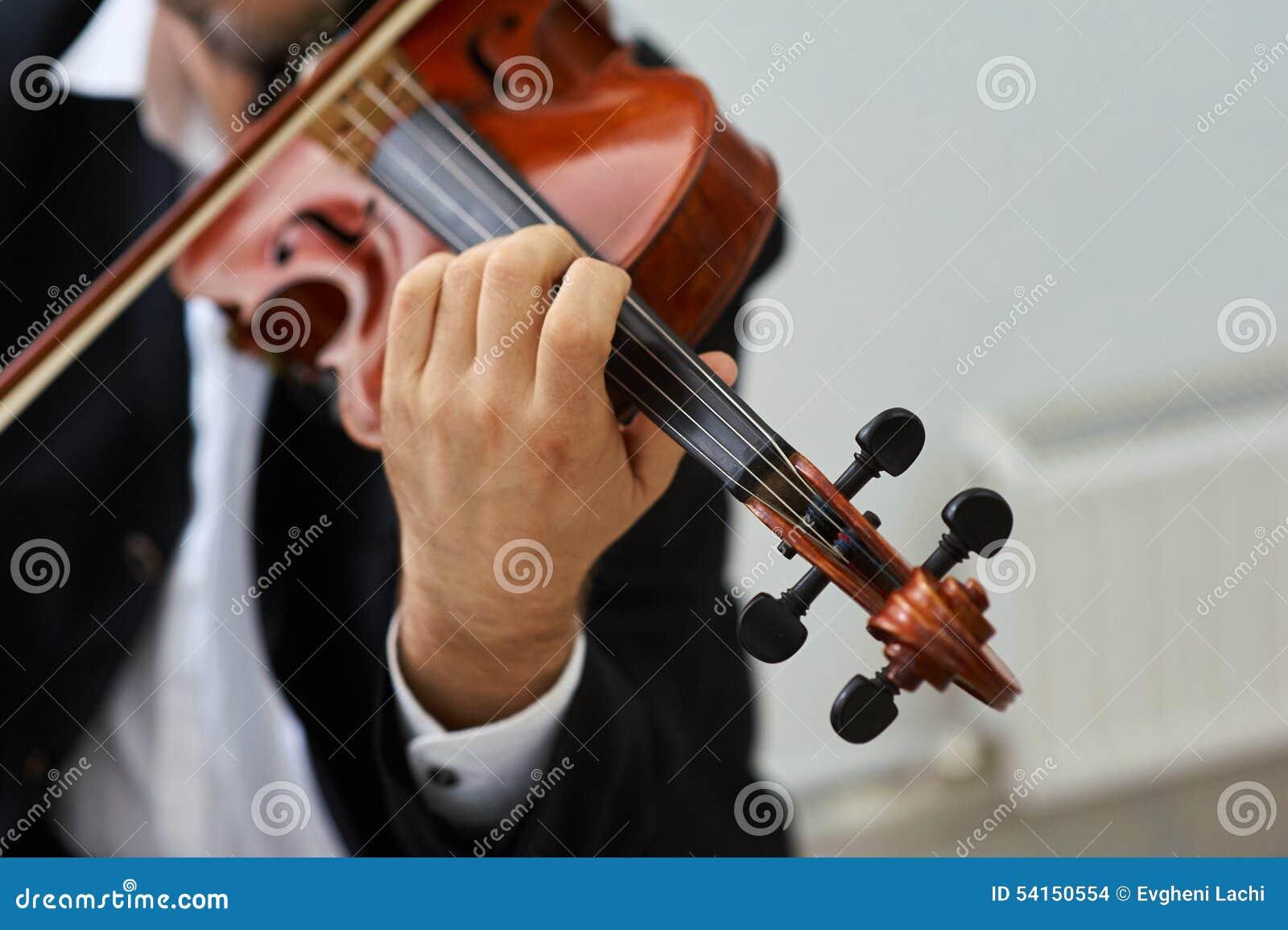 Violinista Playing Classical Violin dos homens