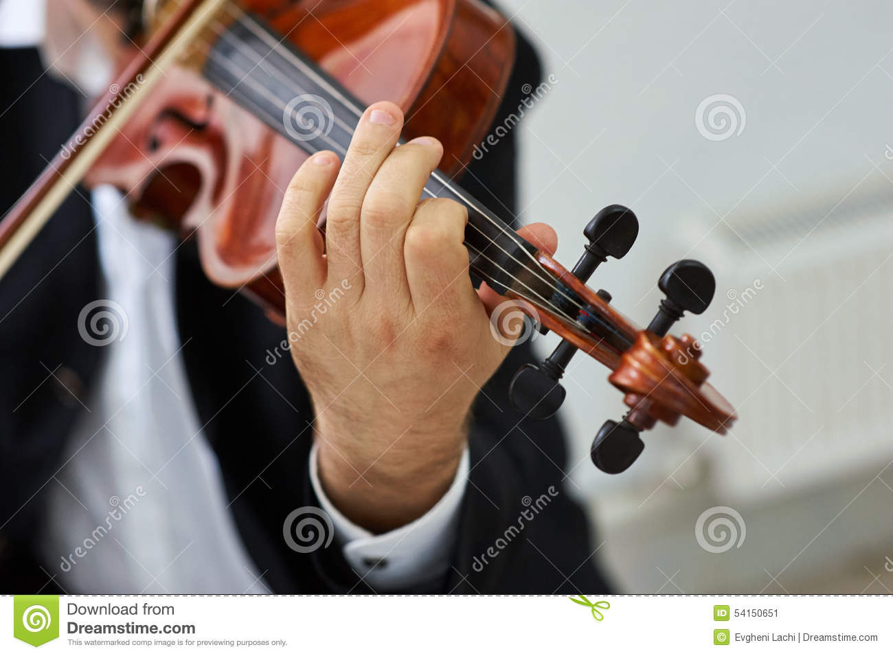 Violinista Playing Classical Violin dos homens