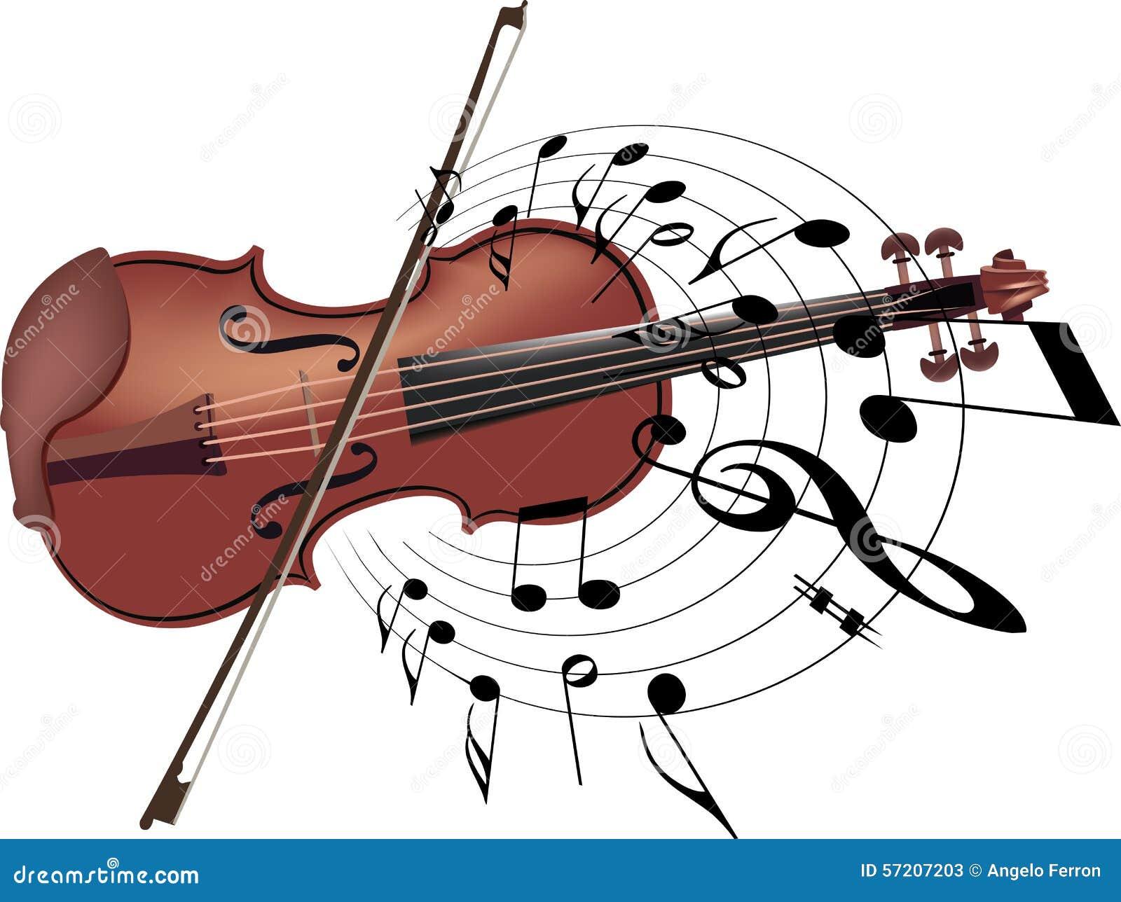 Violon d 39 instrument de musique avec la note photo stock image 57207203 - Photo d instrument de musique ...