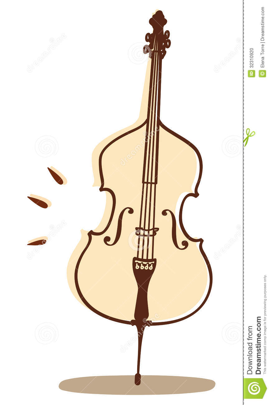 Vector illustrations of a violoncello isolated on white backgound.