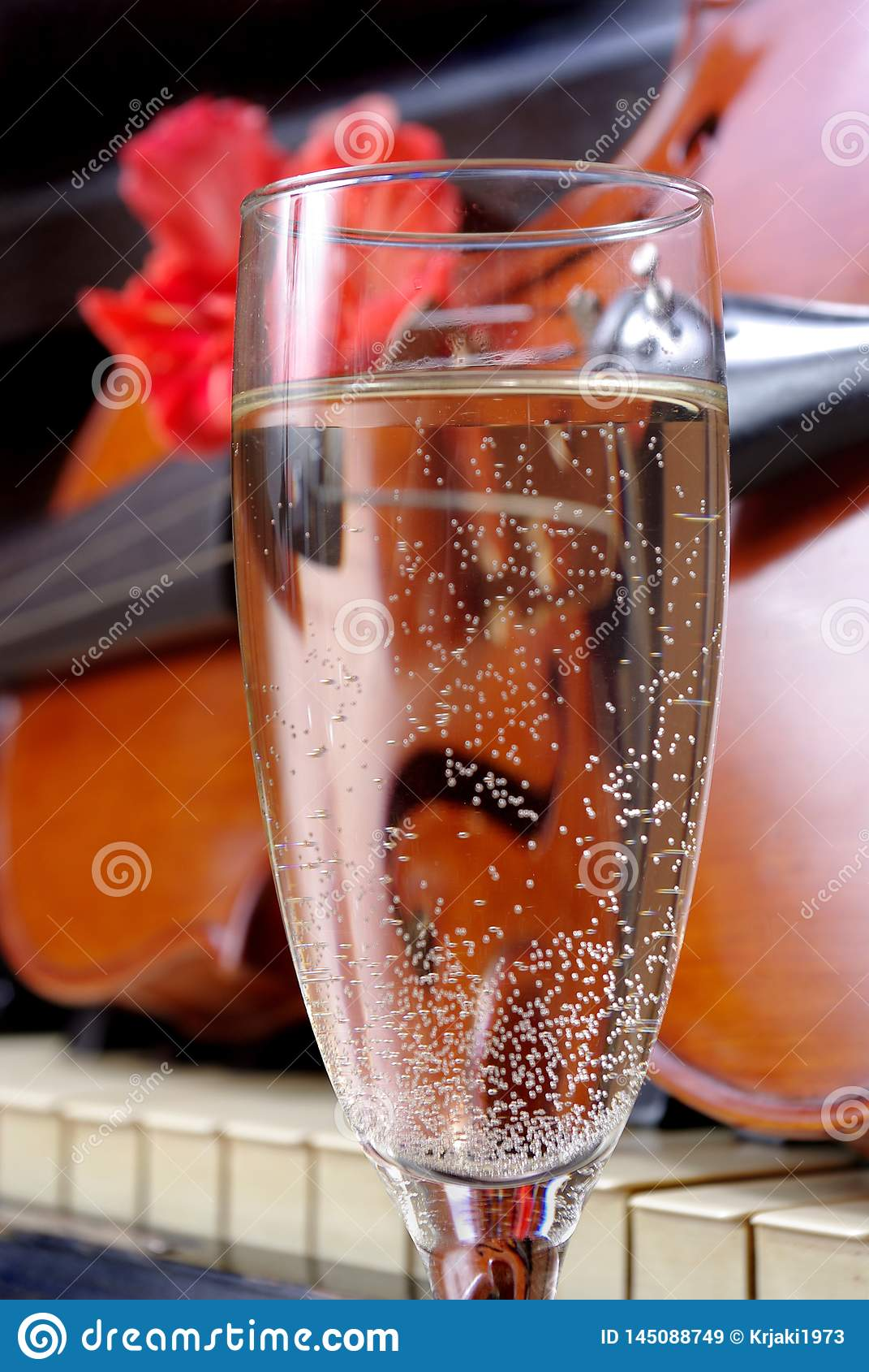Viool en champagne Viool en Piano Na het Overleg