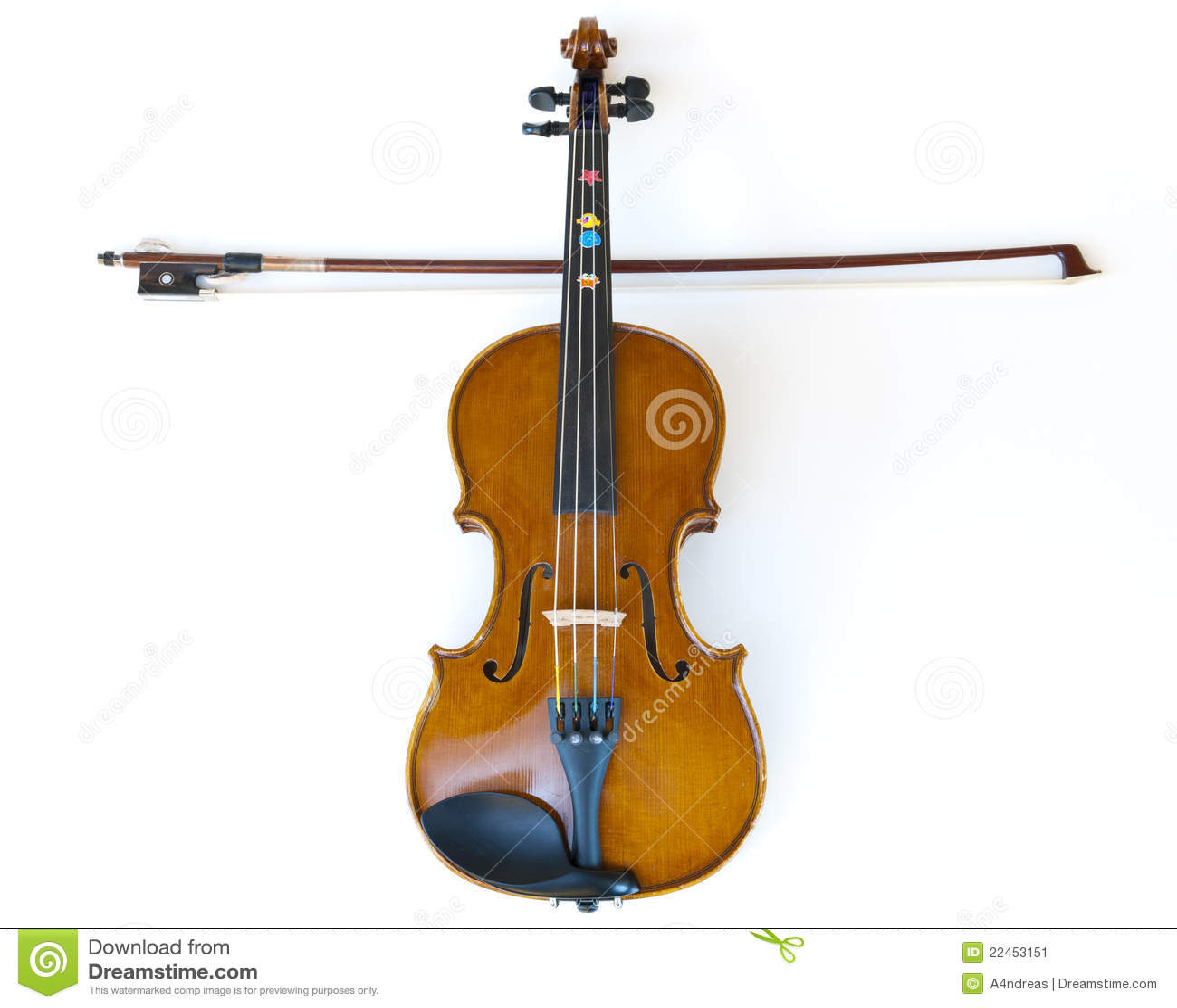 viool en stok geplaatst zoals dwars stock afbeelding