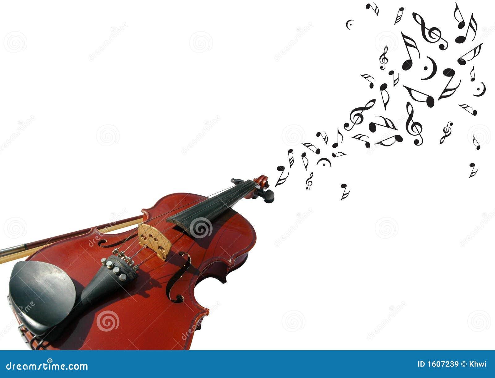 Viool met muzieknota s