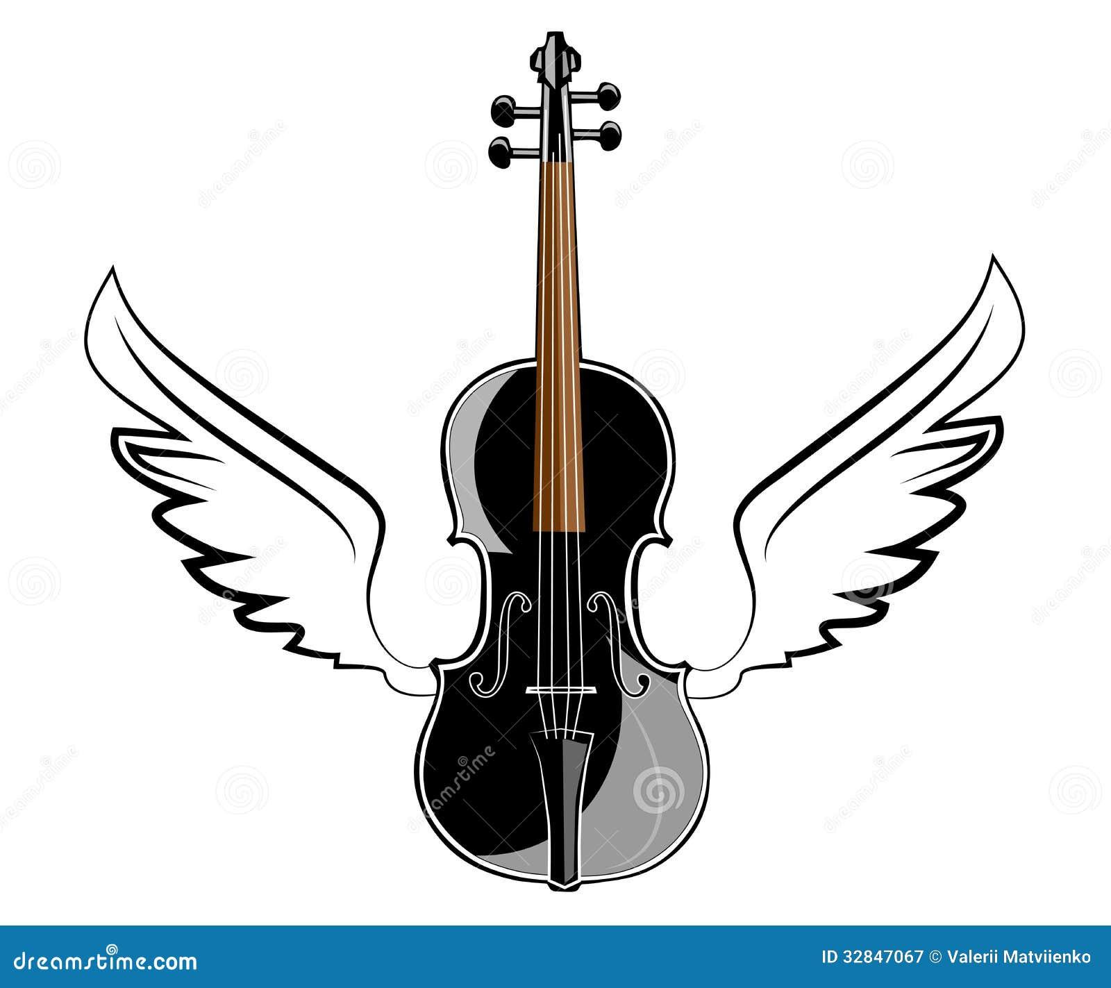 Viool met vleugels