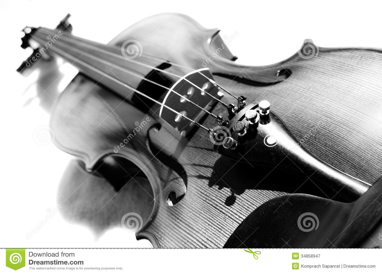 Viool in zwart-wit.