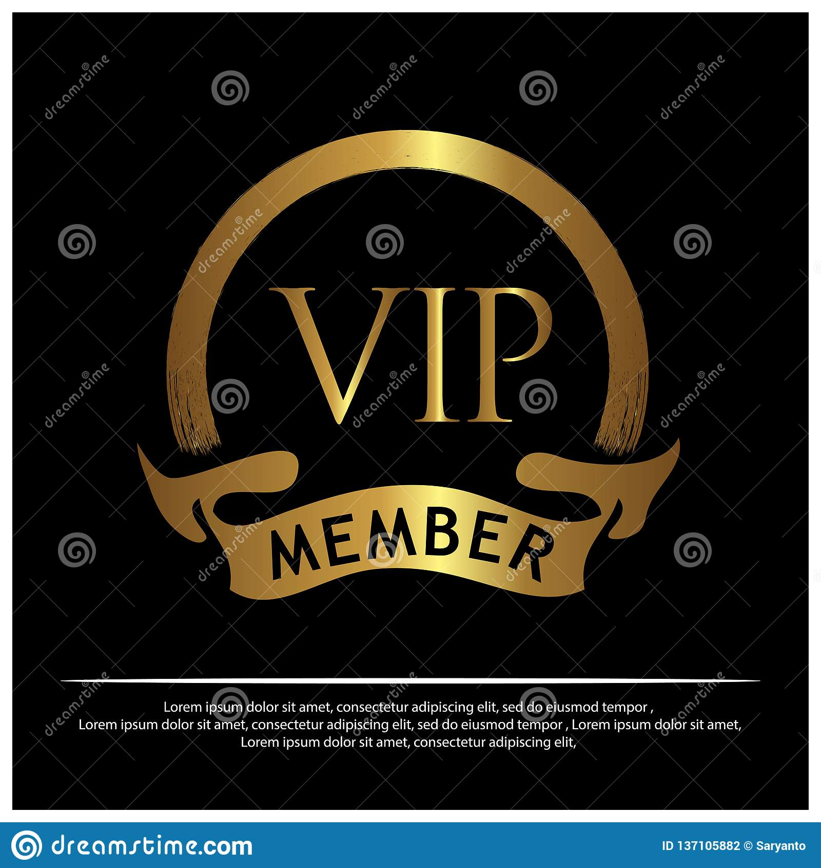 VIP成员股票象 商标的,横幅,模板,传染媒介以图例解释者-传染媒介设计