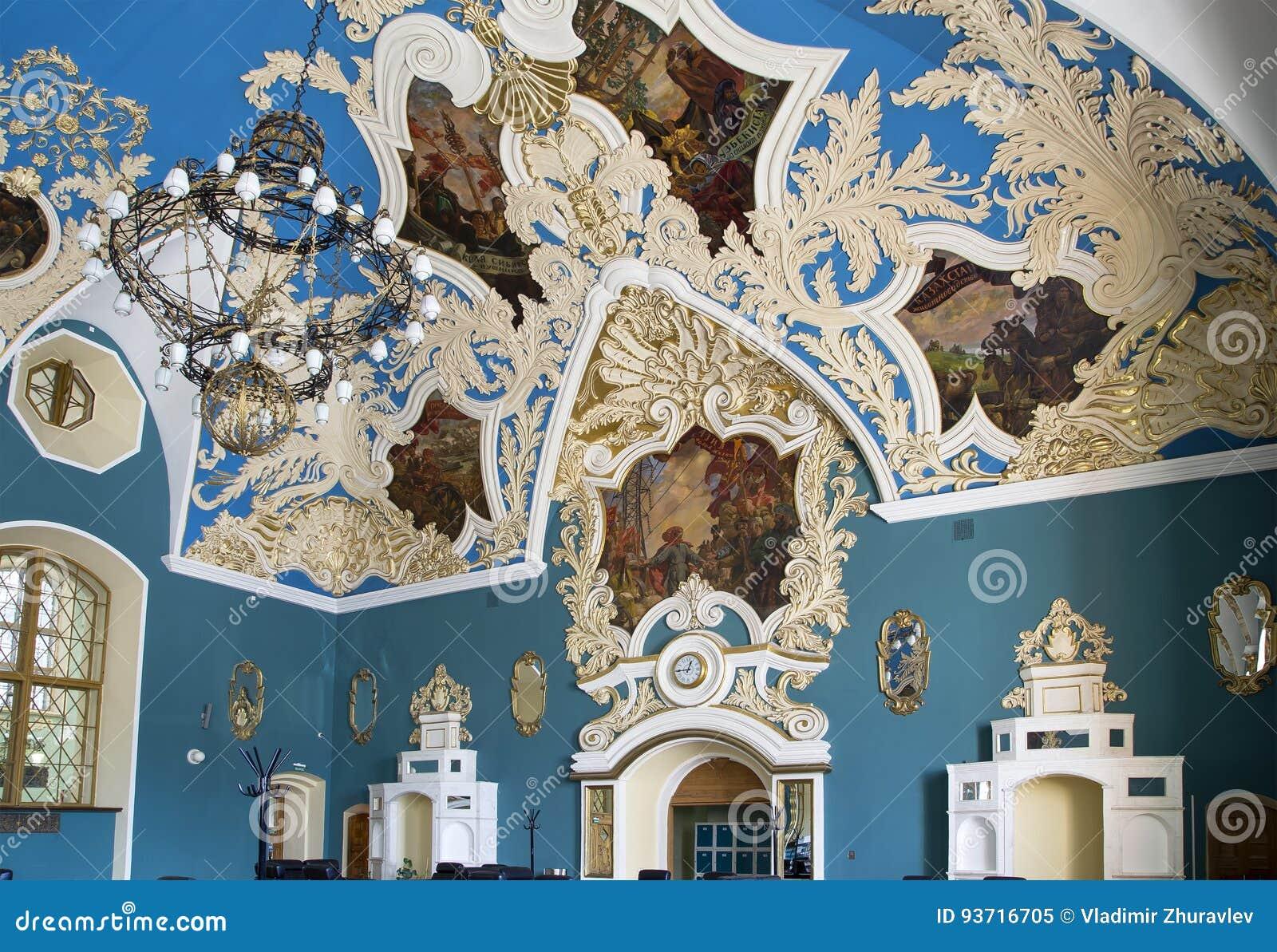 VIP-αίθουσα ή ένας υψηλότερος σταθμός Kazansky Kazansky άνεσης δωματίων σιδηροδρομικός vokzal -- είναι ένα από εννέα τερματικά σι