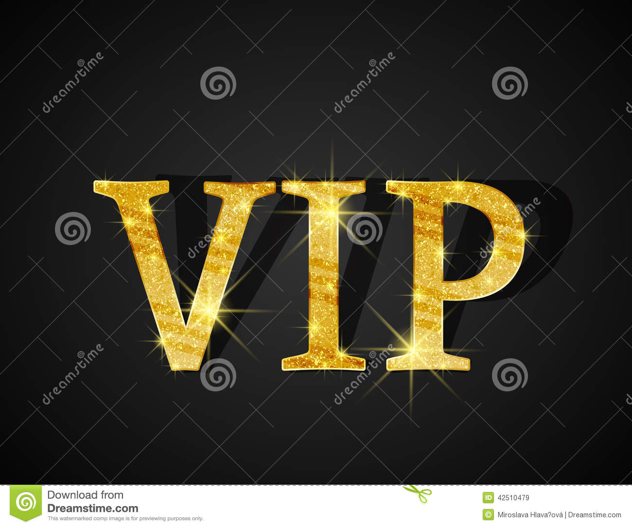 Vip Card Stock Vector - Image: 42510479