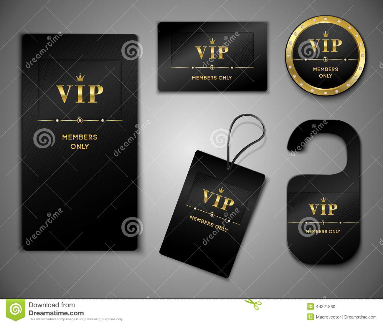 Vip Cards Design Template Stock Vector - Image: 44321860