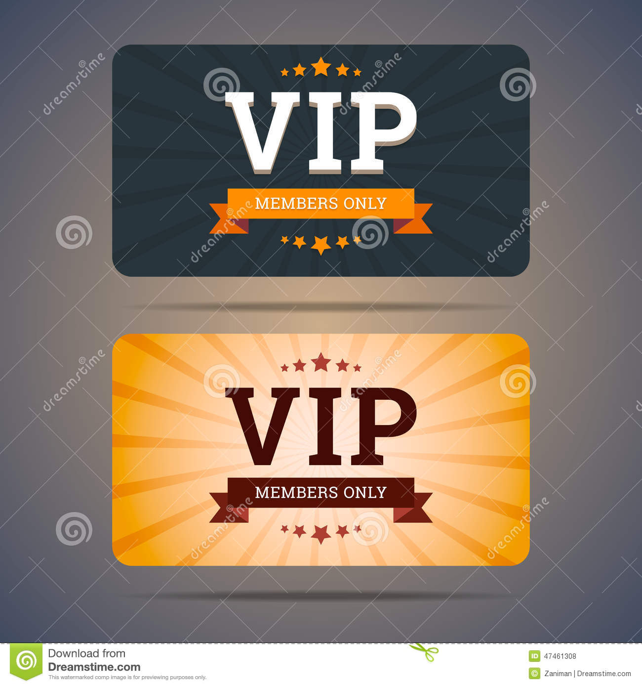 Vip Club Card Design Templates In Flat Style Vector Image – Club Card Design